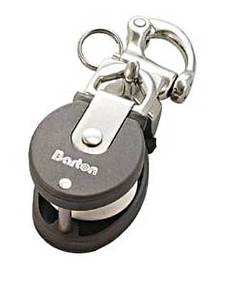 BARTON Snatch Block MINI with Snap Shackle Stainless Steel BRL 800Kg