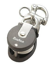 BARTON Snatch Block with Snap Shackle Stainless Steel BRL 1100Kg