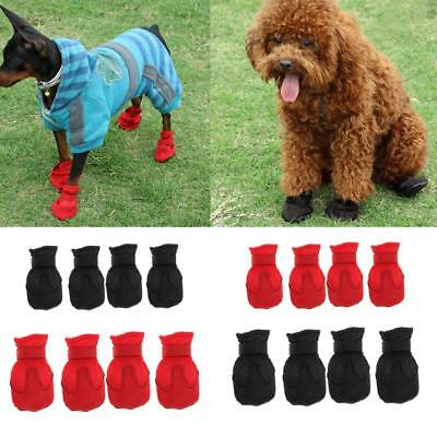 4Pcs Small Medium Dog Puppy Shoes Anti-Slip Boots-Paws Ptotect - Breathable Mesh