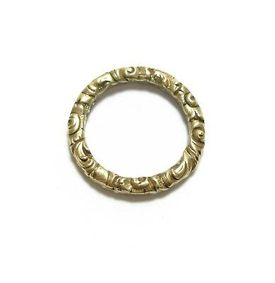 No.1 STUNNING OLD ANTIQUE GEORGIAN 15CT GOLD SPLIT RING FOR A WATCH CHAIN (B9)