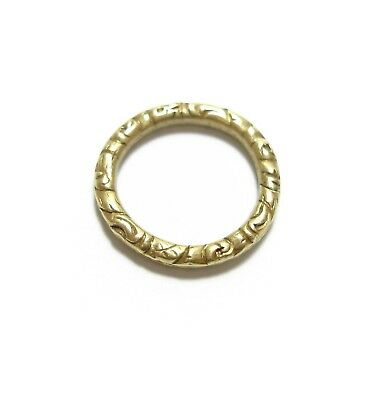 No.2 STUNNING OLD ANTIQUE GEORGIAN 15CT GOLD SPLIT RING FOR A WATCH CHAIN (B10)