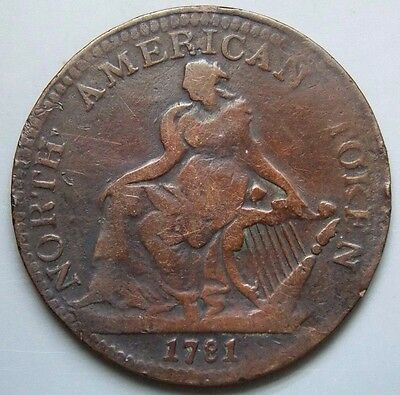 """1871 AM-5A1 Canada Canadian Colonial """" North American Commerce """" Token"""