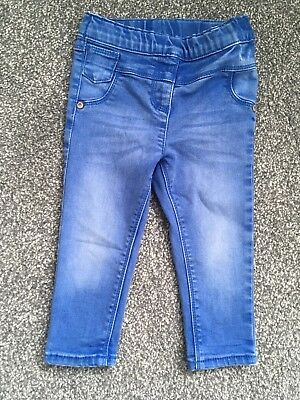 Next Baby Girl Bright Blue Skinny Jeans 12-18m