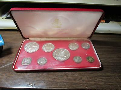 1973 - Bahamas - 9 Coin Proof Set In Original Case with Papers           (G-1)
