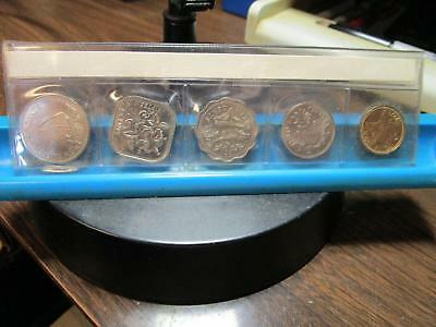 Bahamas - 1970 - 5 Coins - Proof  &  1971 5 Coins UNC               (G-22)