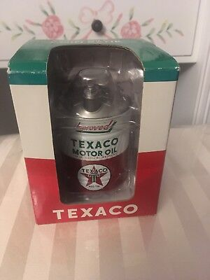 Vintage Oil Can Coin Bank Texaco Motor Oil 2001 New In Box
