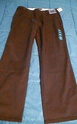 Mens DOCKERS 34 x 30 Brown Straight Fit Easy Khaki Pants New NWT