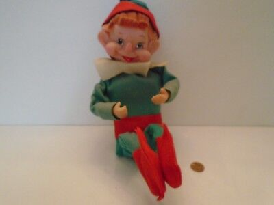 "VTG! TKR JESTIA Japan Musical Motion Knee Hugger Elf, Plays ""Jingle Bells"",1950s"
