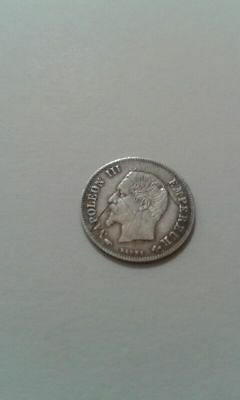 20 cts - NAPOLEON III - TETE nue - ARGENT - 1 g - 1860 A