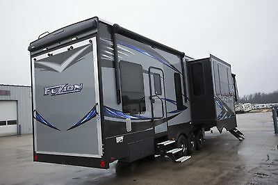Blowout Sale 2017 Fuzion 417 Fifth Wheel Toy Hauler 12 Ft Garage Loft Camper Rv