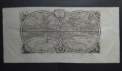 1754 Atlas BOWEN Accurate Map of the World - Mappemonde