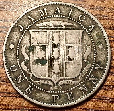 1920 Jamaica One Penny King George V Coin