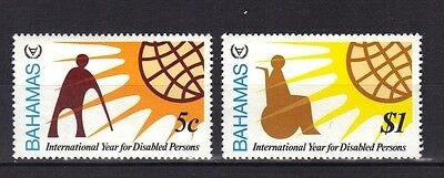 Bahamas. Year Of The Disabled  Mnh 1981
