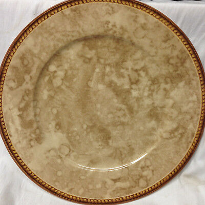 Block Vintage Pearl Chop Plate Platter Raymond Waites Tan Marbled Center