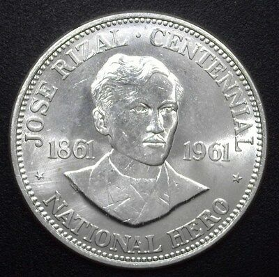 Philippines Nd(1961) Silver Peso - Km#192, Y#42 - Gem Uncirculated