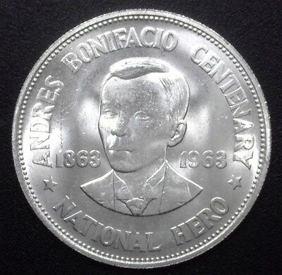 Philippines Nd(1963) Silver Peso - Km#192, Y#42 - Gem Uncirculated