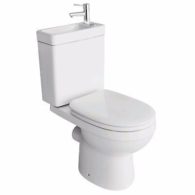 Combined Duo Cloakroom Toilet & Basin With Tap Ultimate Space Saving Toilet