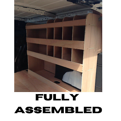 2014 Ford Transit Connect LWB Full Driver Side Plywood Racking Shelving H&H