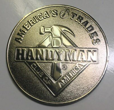 "America's Trades Handyman Club Of  3"" Medallion Token Coin D1922"