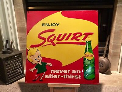 Original 50's Squirt Soda Sign (Embossed)