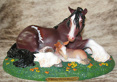 TRAIL OF PAINTED PONIES Home Sweet Home Low 1E/0187~Clydesdale Mother and Foal~