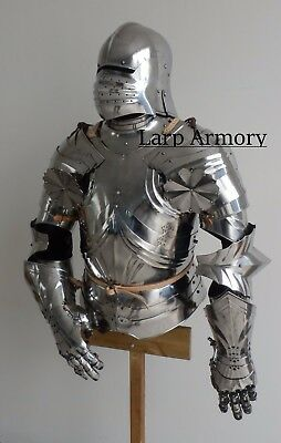 Maximilian Suit of Armor, Half Armor with Hand Guards by Larp Armory