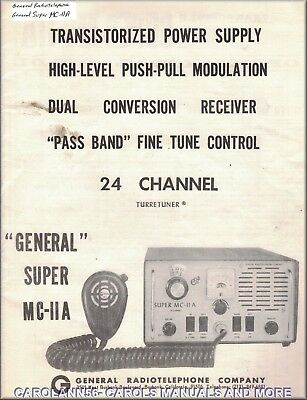 GENERAL RADIOTELEPHONE Manual GENERAL SUPER MC-11A