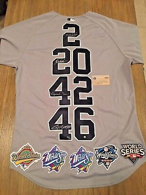 "Yankees ""Core Four"" Signed Authentic Jersey w/5 World Series Patches! LE of 27!"