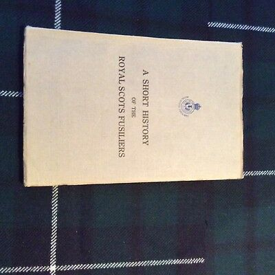 ww1. period history of the royal. scots fusiliers. book