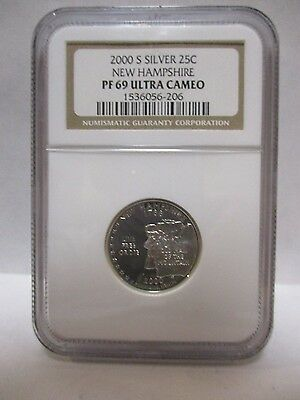 2000-S Silver State Quarter New Hampshire NGC PF69 Ultra Cameo