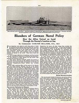 World War 1, Blunders of German Naval Policy, 2 Pages