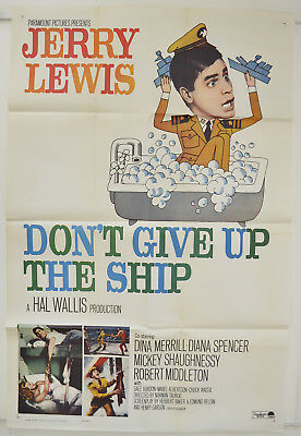 DON'T GIVE UP THE SHIP (1959) One Sheet Movie Poster - Jerry Lewis, Dina Merrill