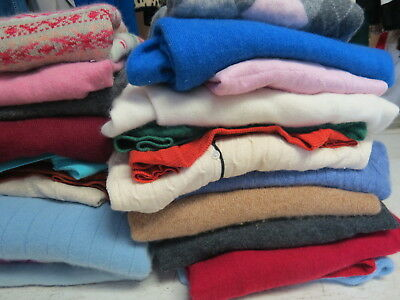 Lot Of 35 Cashmere Sweaters Cutter Crafts Recycle Renew Repurpose Fabric 18 Lbs