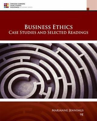 Business Ethics: Case Studies and Selected Readings by Marianne Jennings Hardcov