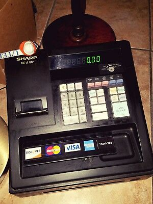 Sharp XE-A107 LED Cash Register with Key Pre owned