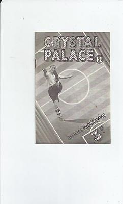 Crystal Palace v Chester City FA Cup Football Programme 1947/48