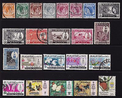 Federated Malay States Penang / Pulau Pinang Stamps all different