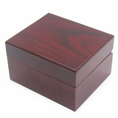 New Classic Wooden Watch Box Case 1 Wristwatch single soft Cushion Velour gift