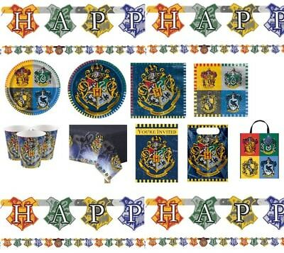 HARRY POTTER Birthday Party Tableware Decorations Favours Wizard Theme Hogwarts