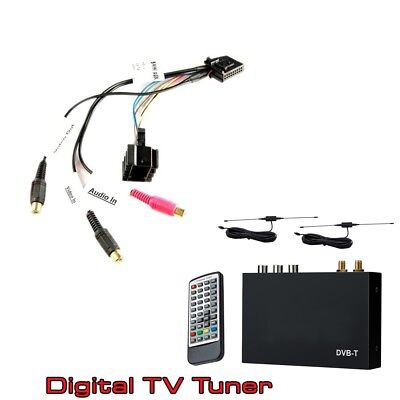 BMW 3 5 series X5 iBus Audio Video Input lead with Digital Freeview TV Tuner