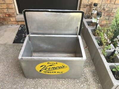 Jj St 11 Vintage Vernors Ginger Ale Soda Cooler Soda Bottle Ice Chest