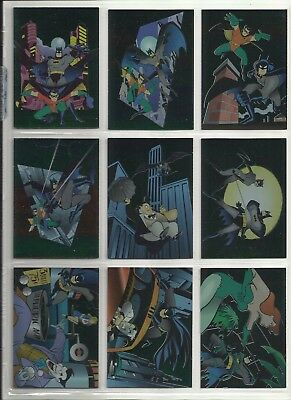 "1995 Adventures of Batman & Robin FOIL ""Complete Set"" of 9 Chase Cards (R1-R9)"