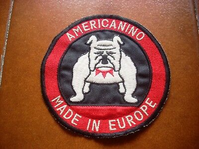 Rare Americanino Made In Europe Jeans Canvas Patch Casuals 80 Paninaro Italy Vtg