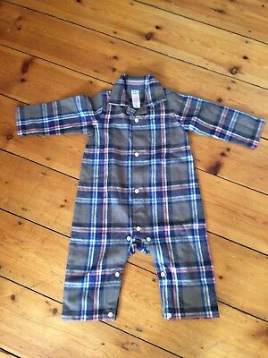 Baby Boden Flannel All In One/sleepsuit 9 - 12 Months Nwot Unisex/boys/girls