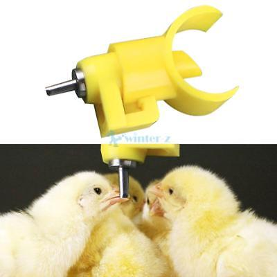 30PCS Automatic In Poultry Water Nipple Drinker Feeder For Chicken Duck Hen CA