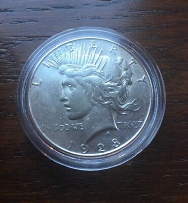 1928-S  Silver Peace Dollar. Top Condition With High Luster!!!
