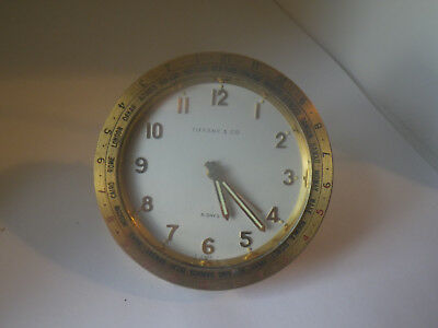 Very Rare Tiffany & Co. World Time 8 Day Desk Alarm. The Guardier Co. No Reserve