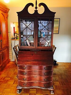 Chippendale Secretary Desk with bookcase Top