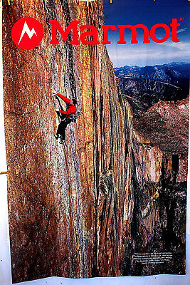 """MARMOT Advertising BANNER Fabric 49"""" x 75"""" Tommy Caldwell Honeymoon Ascent"""
