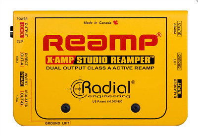 Radial X-Amp Active class-A Reamper, dual output,  BEST OFFER R048